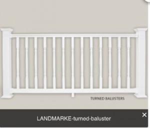white turned baluster