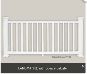 white with square baluster
